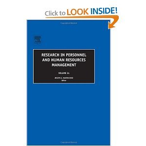 research in personnel and human resources management This volume contains seven chapters on important issues in the field of human resources management, thus continuing the tradition of the series to develop a more.