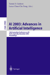 Tamas D. Gedeon, Lance C.C. Fung - AI 2003: Advances in Artificial Intelligence: 16th Australian Conference on AI free download