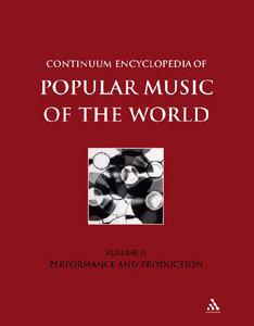 John Shepherd - Continuum Encyclopedia of Popular Music of the World: Performance and Production free download