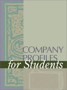 Company Profiles for Students (2 volume set) free download