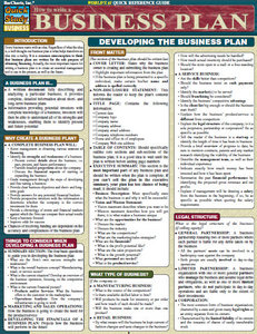 How to Write a Business Plan Quick Reference Guide free download