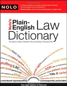 Nolo's Plain-English Law Dictionary free download