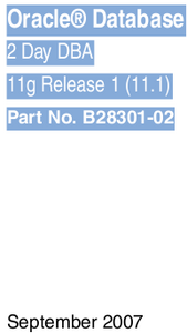 Oracle Database 2 Day DBA 11g Release 1 (11.1) free download