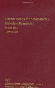 Semiconductors and Semimetals, Volume 70: Recent Trends in Thermoelectric Materials Research, Part Two free download