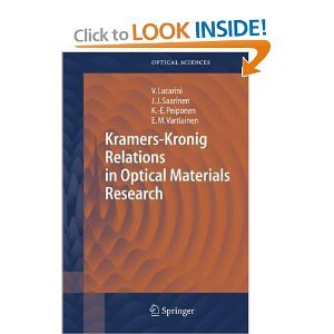 Kramers-Kronig Relations in Optical Materials Research free download