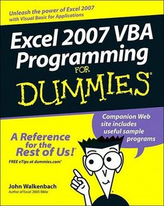 Excel 2007 VBA Programming For Dummies ( Source Code) free download