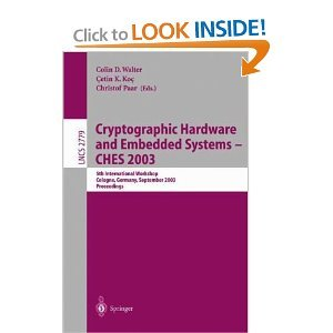Cryptographic Hardware and Embedded Systems -- CHES 2003 free download
