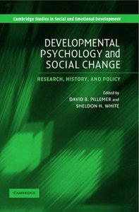 Developmental Psychology and Social Change: Research, History and Policy free download