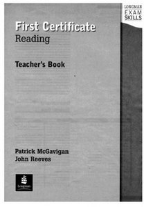Exam Skills - First Certificate Reading - Teacher book download dree