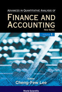 Advances in Quantitative Analysis of Finance and Accounting, Volume 4 free download