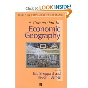 A Companion to Economic Geography free download
