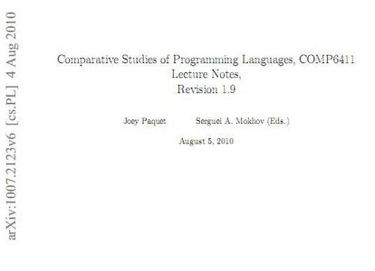 Comparative Studies of Programming Languages free download