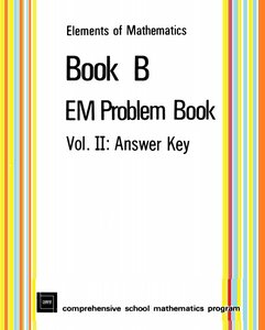 Elements of Mathematics: Book B - EM Problem Book, Volume II: Answer Key free download