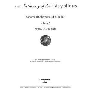 New Dictionary Of The History Of Ideas Vol 5 free download