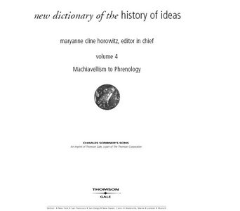 New Dictionary Of The History Of Ideas Vol 4 free download