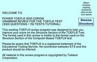 Power TOEFL 3000 Questions free download