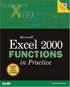 Microsoft Excel 2000 Functions in Practice free download