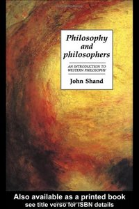 Philosophy And Philosophers: An Introduction To Western Philosophy free download