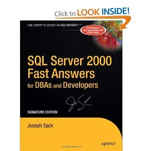 SQL Server 2000 Fast Answers for DBAs and Developers free download