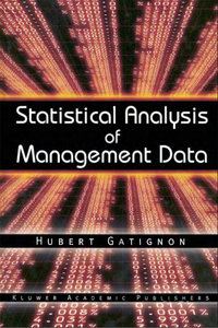 Statistical Analysis of Management Data free download