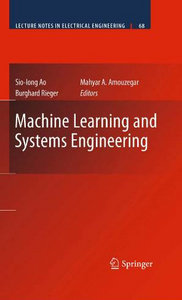 Machine Learning and Systems Engineering (Lecture Notes in Electrical Engineering) free download