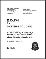 English for Modern Policing: Student's Book free download