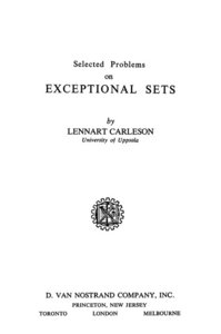 Selected Problems on Exceptional Sets free download
