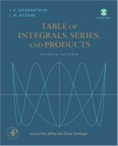 Table of Integrals, Series, and Products, Seventh Edition free download