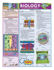 Biology Laminate Reference Chart: The Basic Principles of Biology (Quickstudy Reference Guides - Academic) free download