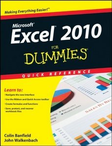 Excel 2010 For Dummies Quick Reference free download