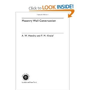 Masonry Wall Construction free download