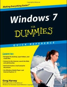 Windows 7 For Dummies Quick Reference free download