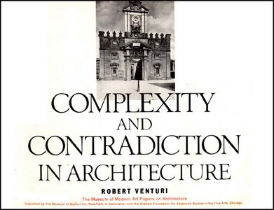 Complexity and Contradiction in Architecture - Free eBooks