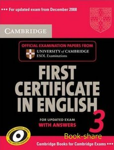 Cambridge First Certificate in English 3 for Updated Exam Self-study Pack (Student's Book with answers and Audio CDs) free download