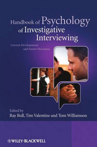 Handbook of Psychology of Investigative Interviewing: Current Developments and Future Directions free download