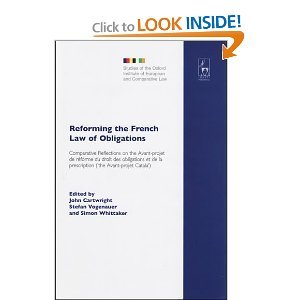 Reforming the French Law of Obligations free download