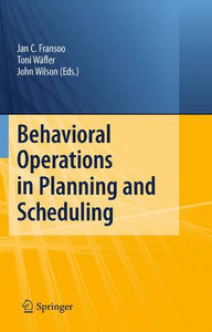 Behavioral Operations in Planning and Scheduling free download