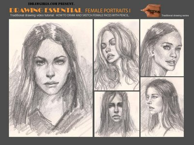DRAWING ESSENTIAL: Female Portraits free download