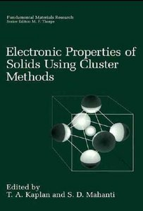 Electronic Properties of Solids Using Cluster Methods free download