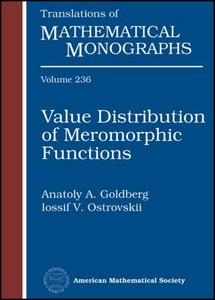 Value Distribution of Meromorphic Functions free download