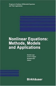 Nonlinear Equations: Methods, Models and Applications free download