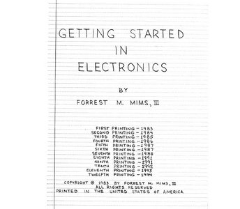 Getting Started in Electronics free download