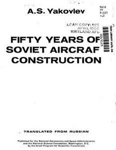 Fifty Years of Soviet Aircraft Construction free download