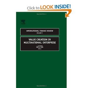 Value Creation in Multinational Enterprise, Volume 7 free download