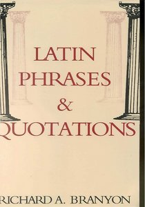 Latin Phrasesamp; Quotations free download