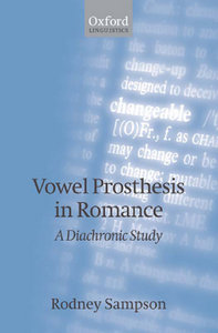 Rodney Sampson - Vowel Prosthesis in Romance free download