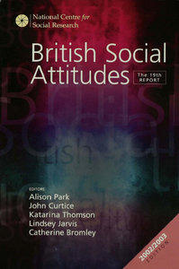 Alison Park, John Curtice, Katarina Thomson, L. Jarvis, Catherine Bromley - British Social Attitudes: The 19th Report free download