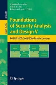 Foundations of Security Analysis and Design V free download