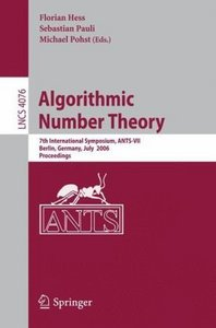 Algorithmic Number Theory free download