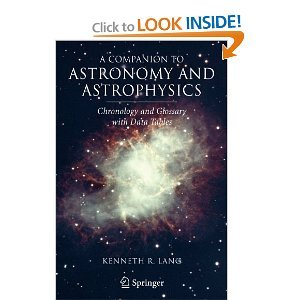 A Companion to Astronomy and Astrophysics: Chronology and Glossary with Data Tables free download